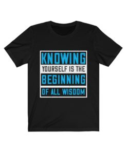 Knowing yourself is the beginning of all wisoom T-shirt